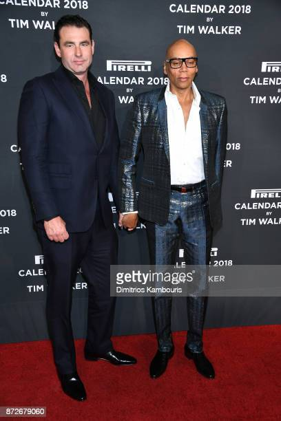 Georges LeBar and RuPaul attend the 2018 Pirelli Calendar Launch Gala at The Pierre Hotel on November 10 2017 in New York City
