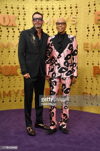 Georges LeBar and RuPaul attend the 71st Emmy Awards at Microsoft Theater on September 22, 2019 in Los Angeles, California.