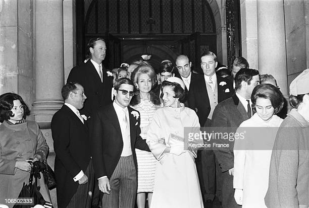 Georges Livanos And Lita Vovoida'S Wedding In Paris With Duke Blandford Stavros Livanos And His Wife Tina Alexander Onassis And His Aunt Eugenia In...
