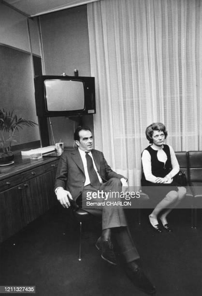 Georges Marchais et sa femme Liliane en 1973 France