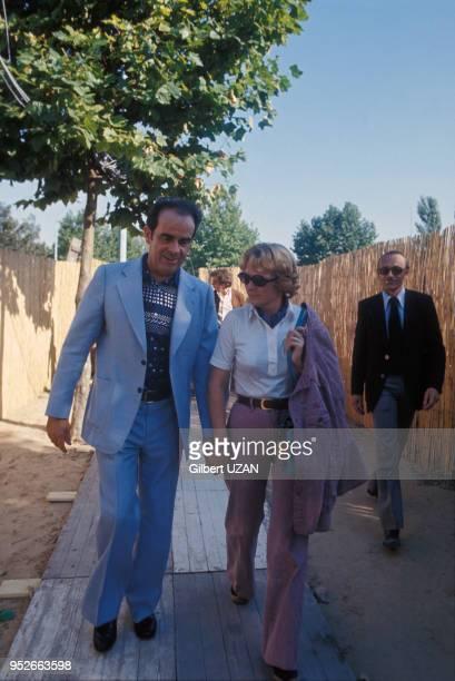 Georges Marchais et sa femme Liliane à la Fête de l'Humanité à La Courneuve le 11 septembre 1977 France