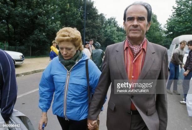 Georges Marchais à la Fête de l'Humaité avec son épouse Liliane le 11 septembre 1983 à La Courneuve France