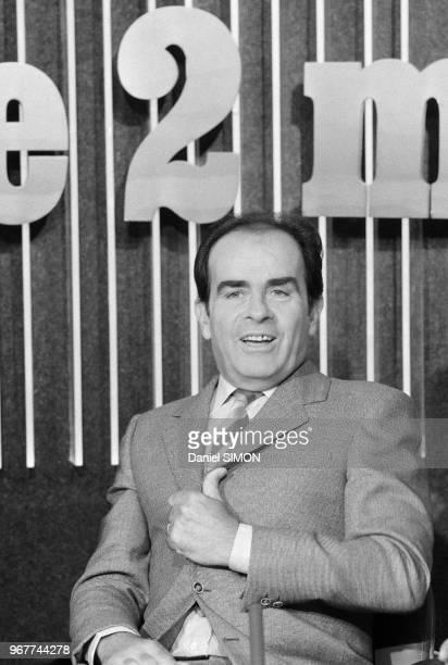 Georges Marchais sur le plateau du journal de 13h sur Antenne 2 le 22 aout 1979 à Paris France