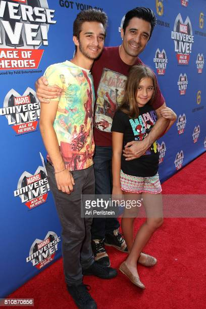 Georges Marini Actor Gilles Marini and daughter Juliana arrives at Marvel Universe LIVE Age Of Heroes World Premiere Celebrity Red Carpet Event at...