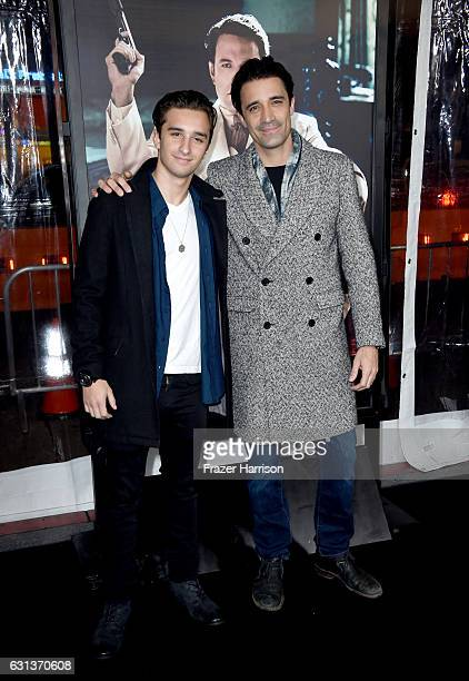 Georges Marini and actor Gilles Marini attend the premiere of Warner Bros Pictures' Live By Night at TCL Chinese Theatre on January 9 2017 in...