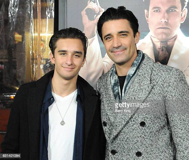 Georges Marini and actor Gilles Marini attend the premiere of Warner Bros Pictures' 'Live By Night' at TCL Chinese Theatre on January 9 2017 in...