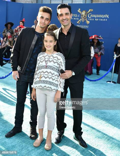 Georges Marini Juliana Marini and actor Gilles Marini arrives at the Premiere Of Disney's Pirates Of The Caribbean Dead Men Tell No Tales at Dolby...