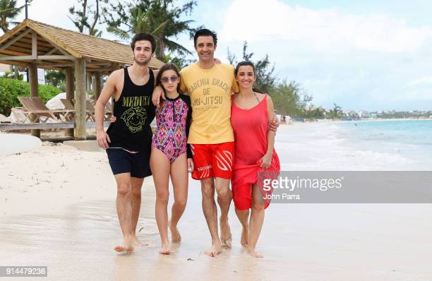 Georges Marini Juliana Marini Gilles Marini and Carole Marini enjoyed some vacation time with his family at Beaches Turks Caicos Resort Villages Spa...