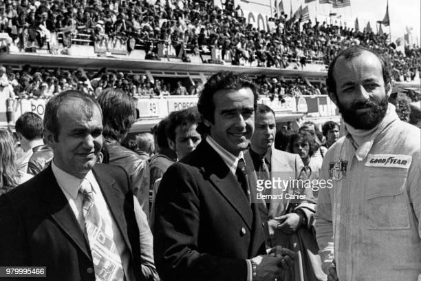 Georges Martin JeanLuc Lagardère Henri Pescarolo 24 Hours of Le Mans Le Mans 11 June 1972 JeanLuc Lagardère CEO of Matra with Matra engineer Georges...