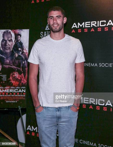 Georges Niang attends The Cinema Society Saved Wines screening of CBS Films' 'American Assassin' at iPic Theater on September 6 2017 in New York City