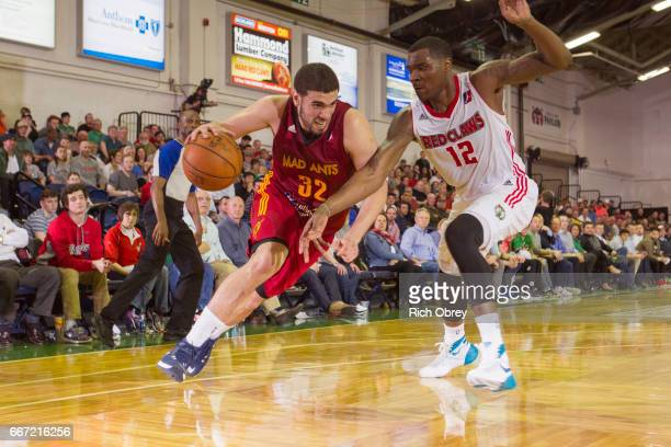 Georges Niang of the Fort Wayne Mad Ants drives to the basket against the Maine Red Claws on Monday April 10 2017 at the Portland Expo in Portland...