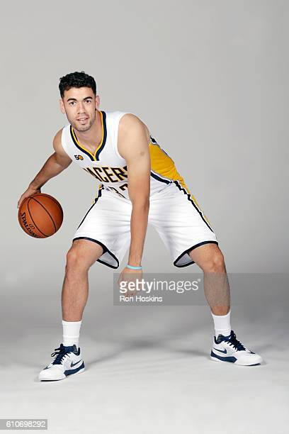 Georges Niang of the Indiana Pacers poses for a portrait during 2016 Media Day at Bankers Life Fieldhouse on September 26 2016 in Indianapolis...