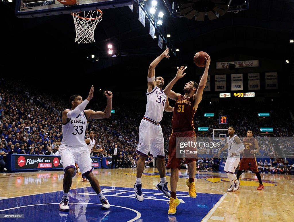 Iowa State v Kansas : News Photo