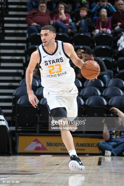 Georges Niang of the Salt Lake City Stars handles the ball against the South Bay Lakers at vivintSmartHome Arena on February 02 2018 in Salt Lake...
