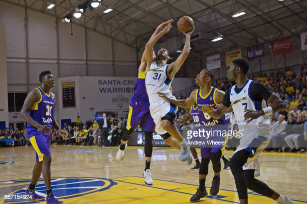Georges Niang of the Santa Cruz Warriors drives to the basket against the South Bay Lakers during an NBA GLeague game on November 4 2017 at Kaiser...