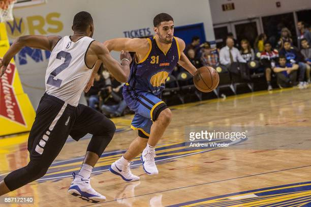 Georges Niang of the Santa Cruz Warriors drives to the basket against the Long Island Nets during an NBA GLeague game on November 17 2017 at Kaiser...