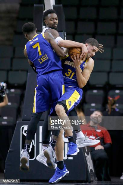 Georges Niang of the Santa Cruz Warriors grabs the rebound against the Austin Spurs on December 7 2017 at HEB Center at Cedar Park in Cedar Park...