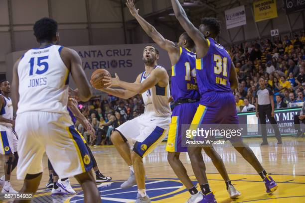 Georges Niang of the Santa Cruz Warriors shoots the ball against the South Bay Lakers during an NBA GLeague game on November 4 2017 at Kaiser...