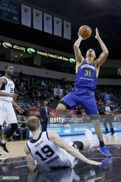 Georges Niang of the Santa Cruz Warriors shoots the ball against the Austin Spurs on December 7 2017 at HEB Center at Cedar Park in Cedar Park Texas...