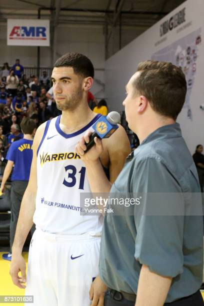 Georges Niang of the Santa Cruz Warriors speaks to the media after the game against the Agua Caliente Clippers on November 11 2017 at the Kaiser...
