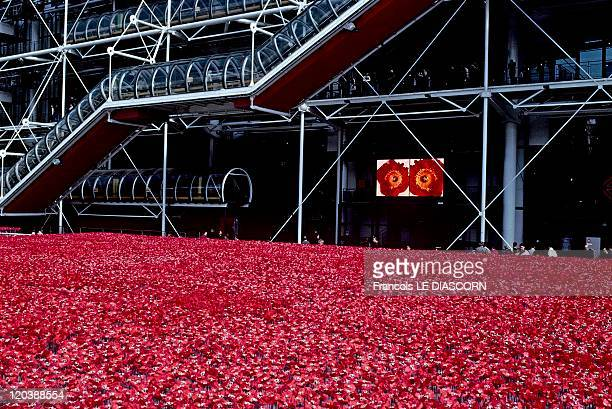 Georges Pompidou center in Paris France in May 2001 Operation 'Coquelicots' de Kenzo