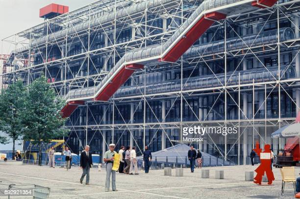 Georges Pompidou Centre, Paris, France. August 1977.