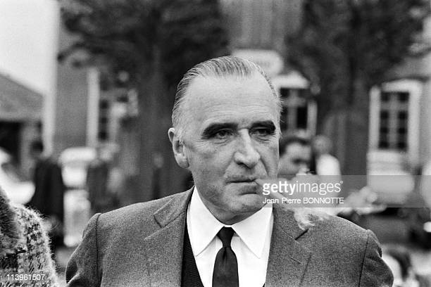 Georges Pompidou Files Pictures In Orvilliers France on March 1967Georges Pompidou on their way to vote for General Elections