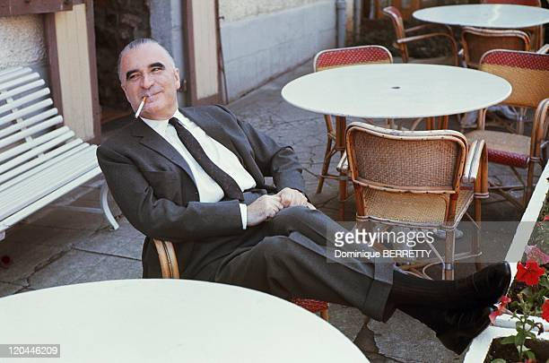Georges Pompidou In Cajac France In 1965