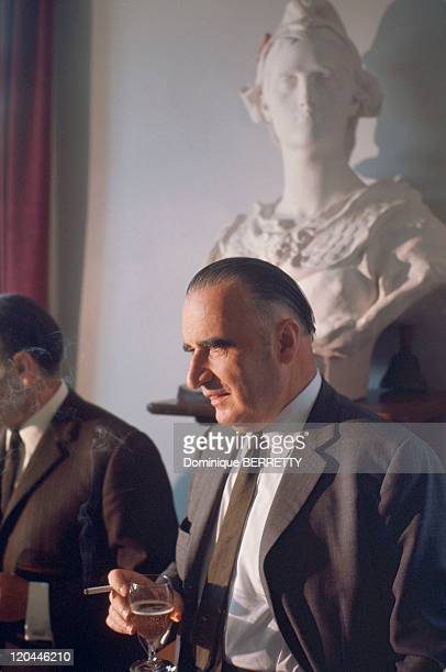 Georges Pompidou In Cajac France In 1968
