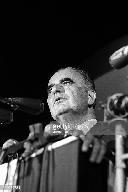 Georges Pompidou meeting in France in January 1969