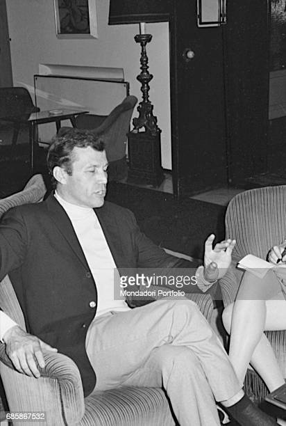 Georges Pretre worldfamous French conductor portayed in a moment of relax He's one of Maria Callas's favourite conductors with whom she works both in...