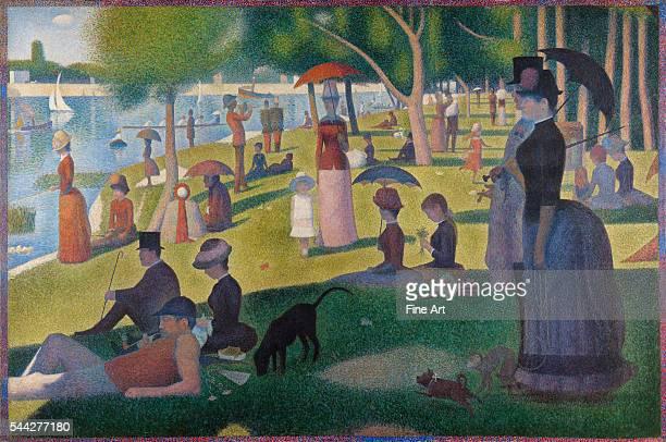 Georges Seurat , A Sunday on La Grande Jatte -- 1884, 1884-6, oil on canvas, 207.5 x 308.1 cm , Art Institute of Chicago, Chicago, Illinois.