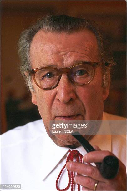 Georges Simenon at home in Lausanne In Lausanne , Switzerland In February, 1983.
