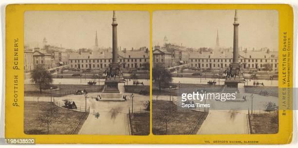 George's Square Glasgow James Valentine 1870s Albumen silver print