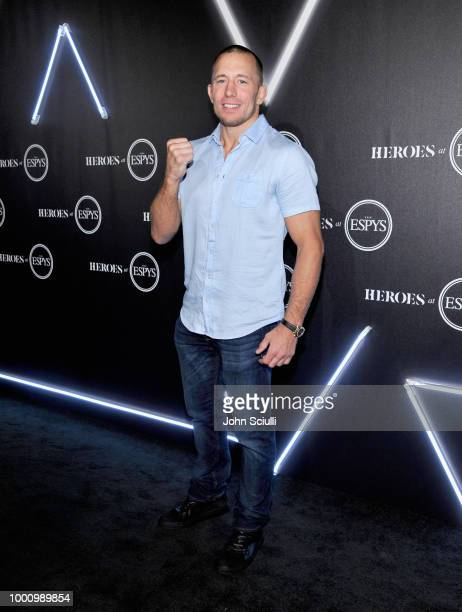 Georges StPierre attends HEROES at The ESPYS at City Market Social House on July 17 2018 in Los Angeles California
