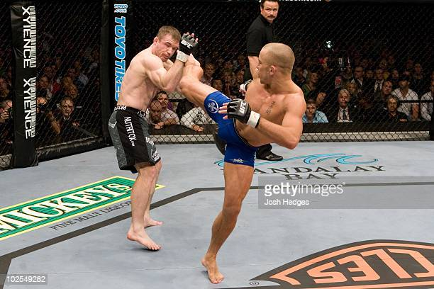 Georges StPierre def Matt Hughes Submission 454 round 2 during UFC 79 at Mandalay Bay Events Center on December 29 2007 in Las Vegas Nevada