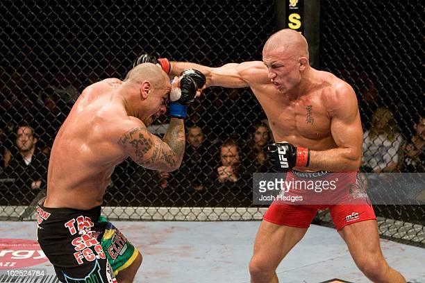 Georges StPierre def Thiago Alves Unanimous Decision during UFC 100 at Mandalay Bay Events Center on July 11 2009 in Las Vegas Nevada