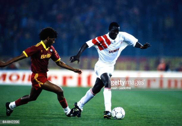 ALDAIR / Georges WEAH AS Roma / Monaco 1/4Finale Aller Coupe des Coupes Photo Alain Gadoffre / Icon Sport