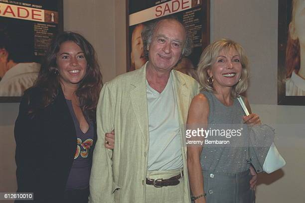 Georges Wolinski with his wife and one of their daughters