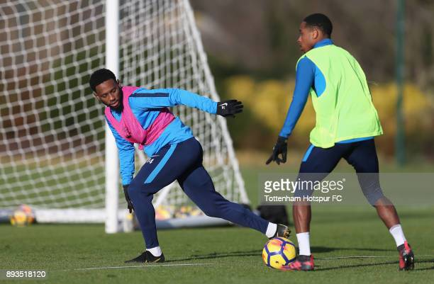 GeorgesKevin Nkoudou and Kyle WalkerPeters of Tottenham Hotspur during the Tottenham Hotspur training session at Tottenham Hotspur Training Centre on...