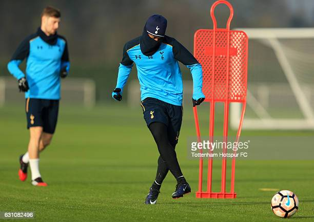 GeorgesKevin Nkoudou Mbida of Tottenham Hotspur during a training session on January 6 2017 in Enfield England