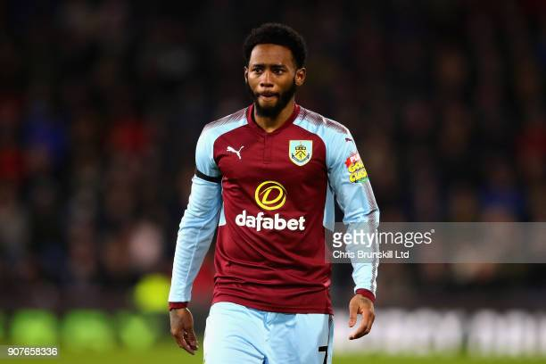 GeorgesKevin N'Koudou of Burnley looks on during the Premier League match between Burnley and Manchester United at Turf Moor on January 20 2018 in...