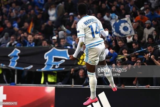 GeorgesKevin N'Koudou of Olympique de Marseille celebrates his goal during the UEFA Europa League match between Olympique de Marseille and FC...