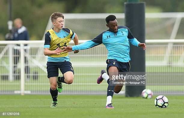 GeorgesKevin N'Koudou of Tottenham during the Tottenham Hotspur training session at the Tottenham Hotspur training centre on September 29 2016 in...