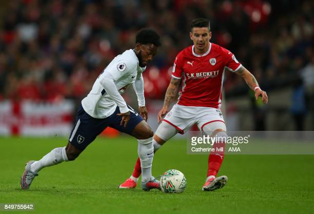 GeorgesKevin N'Koudou of Tottenham Hotspur and Adam Hammill of Barnsley during the Carabao Cup Third Round match between Tottenham Hotspur and...