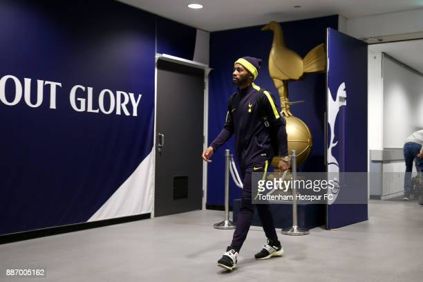 GeorgesKevin N'Koudou of Tottenham Hotspur arrives ahead of the UEFA Champions League group H match between Tottenham Hotspur and APOEL Nicosia at...