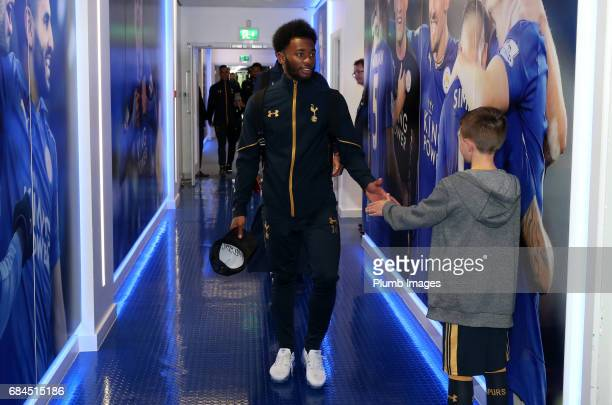 GeorgesKevin N'Koudou of Tottenham Hotspur at King Power Stadium ahead of the Premier League match between Leicester City and Tottenham Hotspur at...