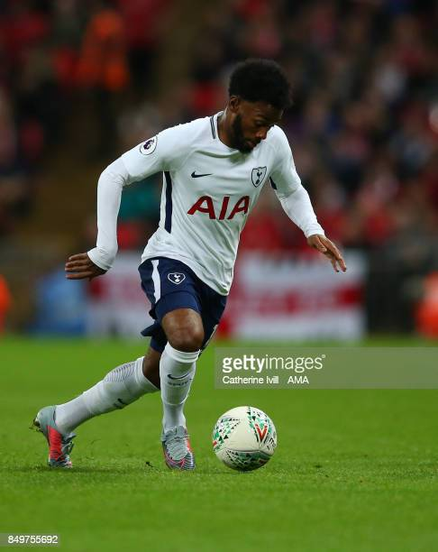 GeorgesKevin N'Koudou of Tottenham Hotspur during the Carabao Cup Third Round match between Tottenham Hotspur and Barnsley at Wembley Stadium on...