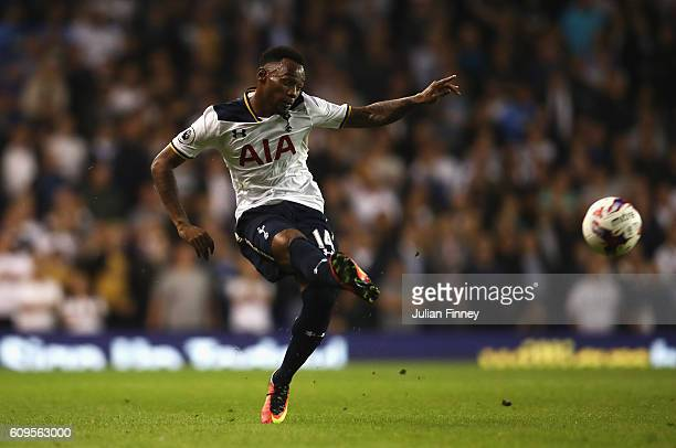 GeorgesKevin Nkoudou of Tottenham Hotspur in action during the EFL Cup Third Round match between Tottenham Hotspur and Gillingham at White Hart Lane...