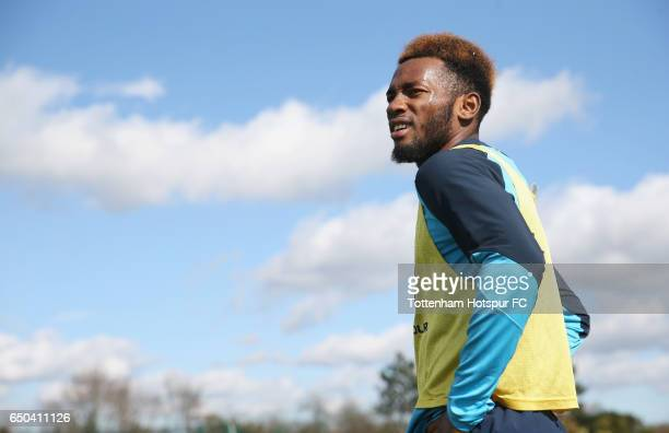Georges-Kévin N'Koudou of Tottenham during the Tottenham Hotspur training session at Tottenham Hotspur Training Centre on March 9, 2017 in Enfield,...